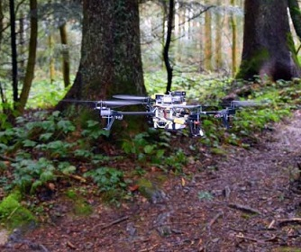 Sviluppati droni per le operazioni di soccorso nei boschi