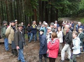A boster nord ovest una delegazione francese di proprietari forestali della Savoia