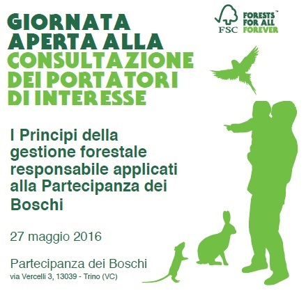 Partecipanza dei Boschi - 27 maggio - giornata pubblica in bosco