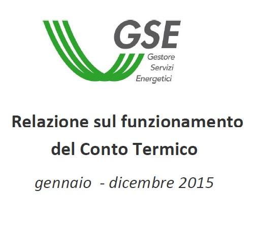 Conto Termico: pubblicata la Relazione sul funzionamento del Conto Termico anno 2015