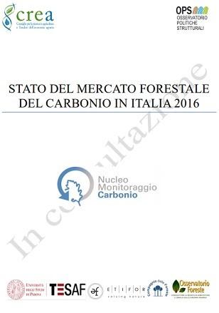 """Report """"Stato del mercato forestale del carbonio in Italia 2016"""""""