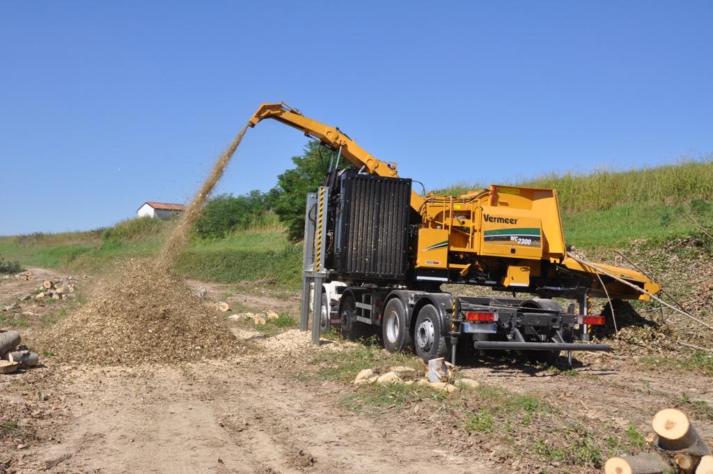 Vermeer Italia presenta la cippatrice su camion WC2300XLT