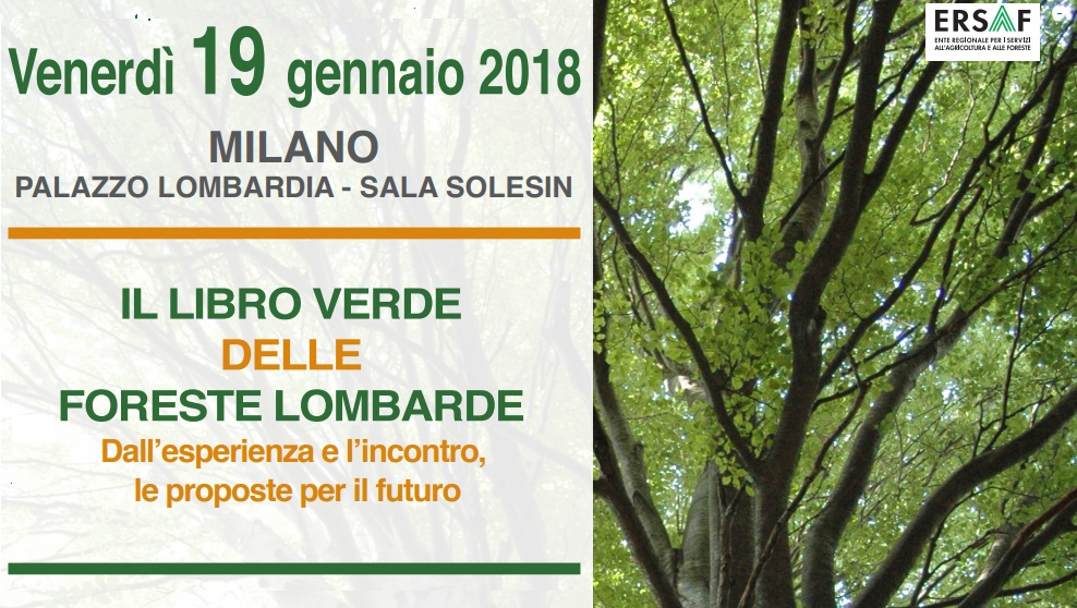 19 gennaio: presentazione del Libro Verde delle Foreste Lombarde
